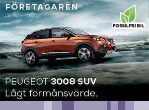 Peugeot 3008 SUV med lågt förmånsvärde - perfekt för dig som är företagare.