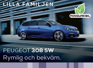 Peugeot 308 SW - bilen för den lilla familjen.