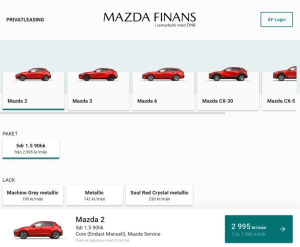 Mazda Privatleasing online