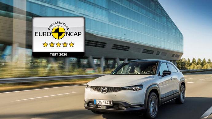 Mazda MX-30 elbil får högsta betyg i Euro NCAP